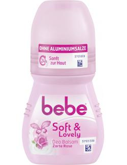 Bebe Young Care Soft & lovely Deo Roll-on zarte Rose (50 ml) - 3574661259895