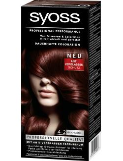 Syoss Professional Performance Coloration 4-2 Mahagoni (115 ml) - 4015100010633