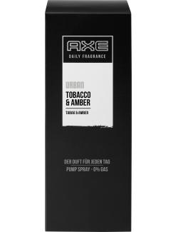 Axe Daily Fragrance Urban Pump Spray Tobacco & Amber (100 ml) - 8710908265815