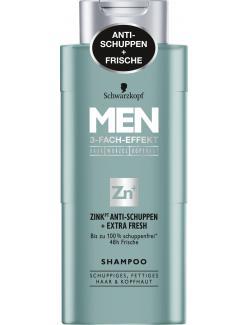 Schwarzkopf Men Shampoo Zink Anti Schuppen + Extra Fresh (250 ml) - 4015100188158