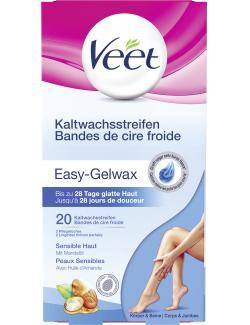 Veet Kaltwachsstreifen Easy-Gelwax sensible Haut (20 St.) - 4002448101123