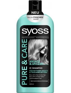 Syoss Pure & Care Ansatz & Spitzen Shampoo (500 ml) - 4015100189155