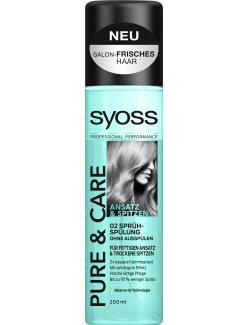 Syoss Pure & Care Ansatz & Spitzen Sprühspülung (200 ml) - 4015100189056