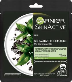 Garnier Skin Active Schwarze Tuchmaske mit Bambuskohle