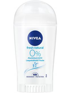 Nivea Fresh Natural 0% Deo Stick