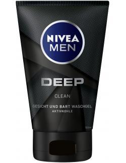 Nivea Men Deep Clean Gesicht+Bart  Waschgel Aktivkohle