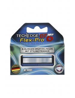 Techedge 6-Klingen Ersatzklingen mit Stylingtrimmer