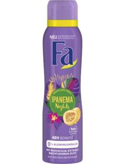 Fa Ipanema Nights Deo-Spray mit Maracuja-Extract & Nachtjasimin-Duft