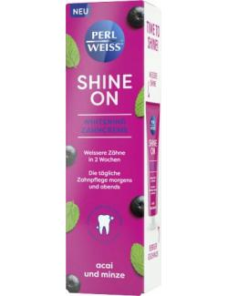 Perlweiss Shine On Whitening Zahncreme Acai und Minze