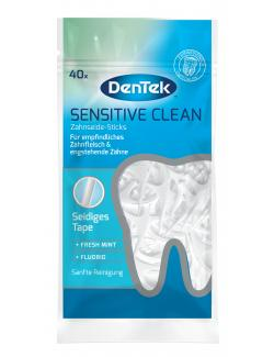 DenTek Sensitive Clean Zahnseide-Sticks fresh mint + Fluorid