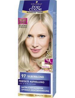 Schwarzkopf Poly Color Creme-Haarfarbe 97 Silberblond