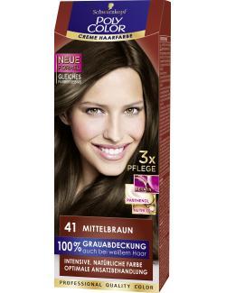 Schwarzkopf Poly Color Creme-Haarfarbe 41 mittelbraun