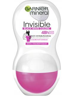Garnier Mineral Invisible Black White Colors Deo Roll-On