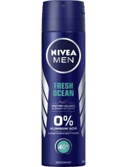 Nivea Men Fresh Ocean 0% Aluminium Deo Spray