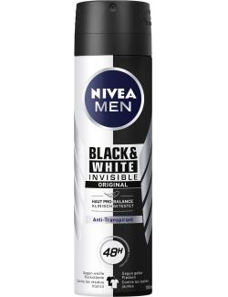 Nivea Men Black & White Invisible Original Anti-Transpirant Deo Spray