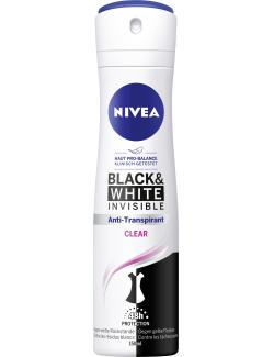 Nivea Deo Spray Black & White Invisible Clear