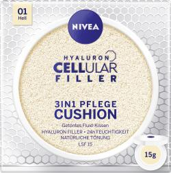Nivea Hyaloron Cellular Filler 3in1 Pflege Cushion 01 hell