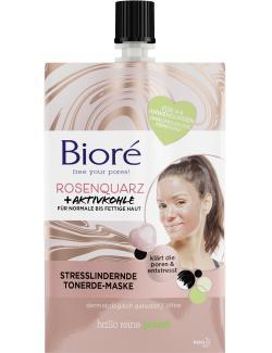 Bioré Tonerde-Maske Rosenquarz + Aktivkohle