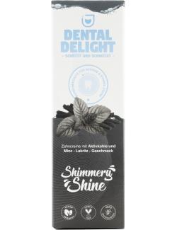 Dental Delight Zahncreme Shimmery Shine Aktivkohle Minz-Lakritz-Geschmack