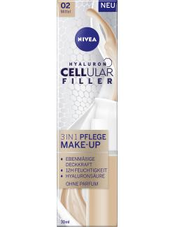 Nivea Hyaluron Cellular Filler 3in1 Pflege Make-Up 02 mittel