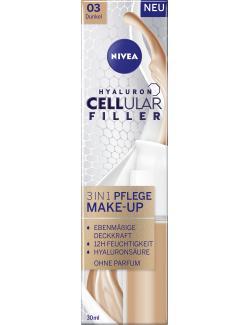 Nivea Hyaluron Cellular Filler 3in1 Pflege Make-Up 03 dunkel