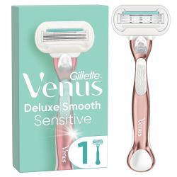 Venus Deluxe Smooth Sensitive RoseGold Rasierer mit 1 Rasierklinge