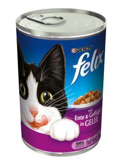 Felix mit Ente & Geflügel in Gelee (400 g) - 4000487598904