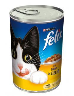 Felix mit Huhn in Gelee