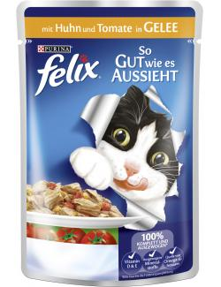 Felix So gut wie es aussieht mit Huhn & Tomaten in Gelee