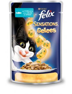 Felix Sensations mit Forelle in Gelee mit Spinat (100 g) - 7613032628864