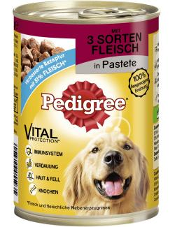 Pedigree 3 Sorten Fleisch in Pastete