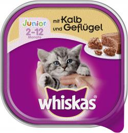 Whiskas Junior Terrine mit Kalb & Geflügel (100 g) - 4008429051319