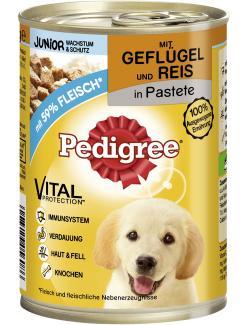 Pedigree Junior Wachstum & Schutz Pastete mit Geflügel & Reis
