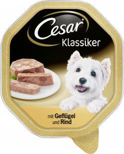 Cesar Klassiker mit Geflügel & Rind