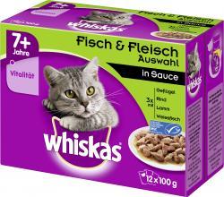 Whiskas Senior Fisch und Fleisch Auswahl in Sauce
