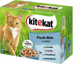 Kitekat Fisch-Box in Gelee
