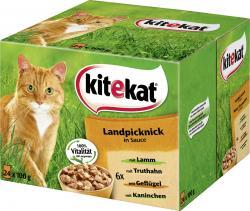 Kitekat Landpicknick in Soße (24 x 100 g) - 4008429016240
