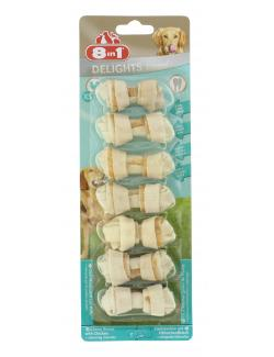 8in1 Delights Dental Kauknochen mit Hähnchenfleisch XS (7 St.) - 4048422102595