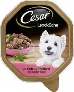 Cesar Landküche Mini Filets mit Kalb & Truthahn in Sauce (150 g) - 4008429048289