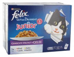 Felix So gut wie es aussieht Junior gemischte Vielfalt in Gelee (12 x 100 g) - 7613033498084