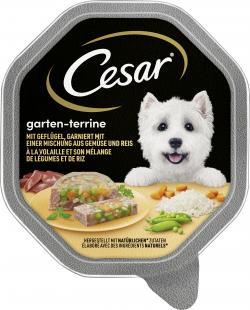 Cesar Gartenvielfalt mit Geflügel, Gemüse und Reis (150 g) - 3065890114104