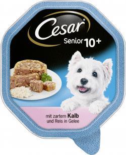 Cesar Senior 10+ mit zartem Kalb und Reis in Gelee