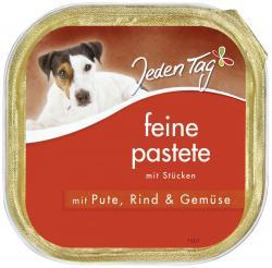 Jeden Tag Hund Feine Pastete mit Pute, Rind & Gemüse