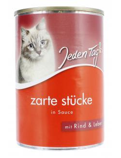 Jeden Tag Katze Zarte Stücke in Sauce Rind & Leber