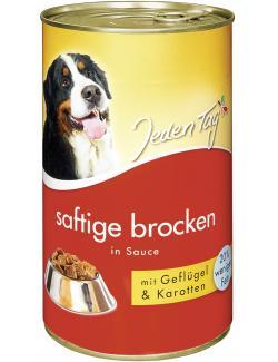 Jeden Tag Saftige Brocken in Sauce Geflügel & Karotten