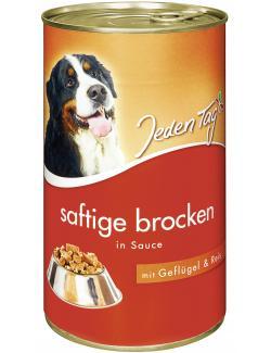Jeden Tag Hund Saftige Brocken in Sauce Geflügel & Reis