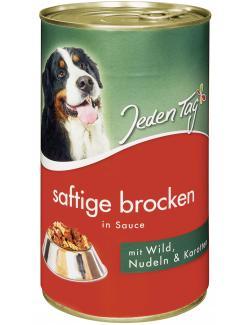 Jeden Tag Hund Saftige Brocken in Sauce Wild, Nudeln & Karotten