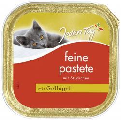 Jeden Tag Feine Pastete mit Stückchen Geflügel (100 g) - 42263869