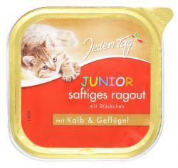 Jeden Tag Junior saftiges Ragout mit Stückchen Kalb & Geflügel (100 g) - 42263913