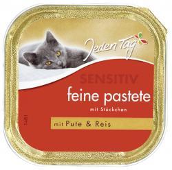 Jeden Tag Feine Pastete mit Stückchen Pute & Reis (100 g) - 42263937